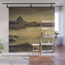 Water Barriers. Hand Painted Photograph Wall Mural