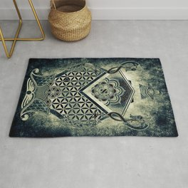 Sacred Geometry for your daily life - ESOTERIC ALEPH KYBALION EYE Rug