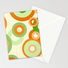vintage rings orange green Stationery Cards