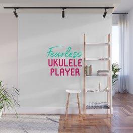 Fearless Ukulele Player Strumming Through Life Ukelele Music Wall Mural