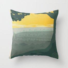 Ba Sing Se Travel Poster Throw Pillow