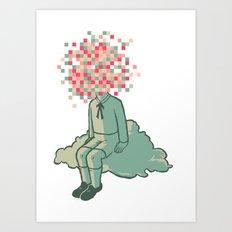 Pixel Boy Art Print