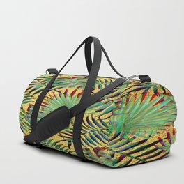 Palm Leaf on Gold Duffle Bag