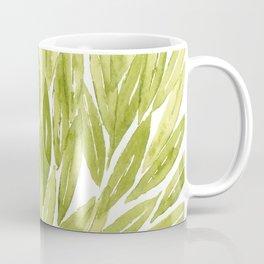 Olive tree leaves pattern in watercolor Coffee Mug