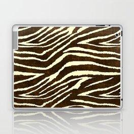 Animal Print Zebra in Winter Brown and Beige Laptop & iPad Skin