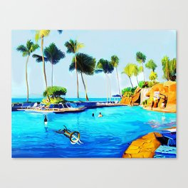 Corky's diving Canvas Print