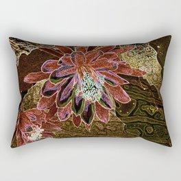 Night Cactus Bronze Rectangular Pillow