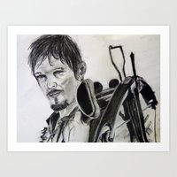 daryl dixon Art Prints featuring Daryl Dixon by Brittany Ketcham