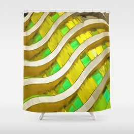 Pop Art Urban Architecture Apartment Block Shower Curtain