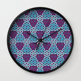Triangles- optical illusion Wall Clock