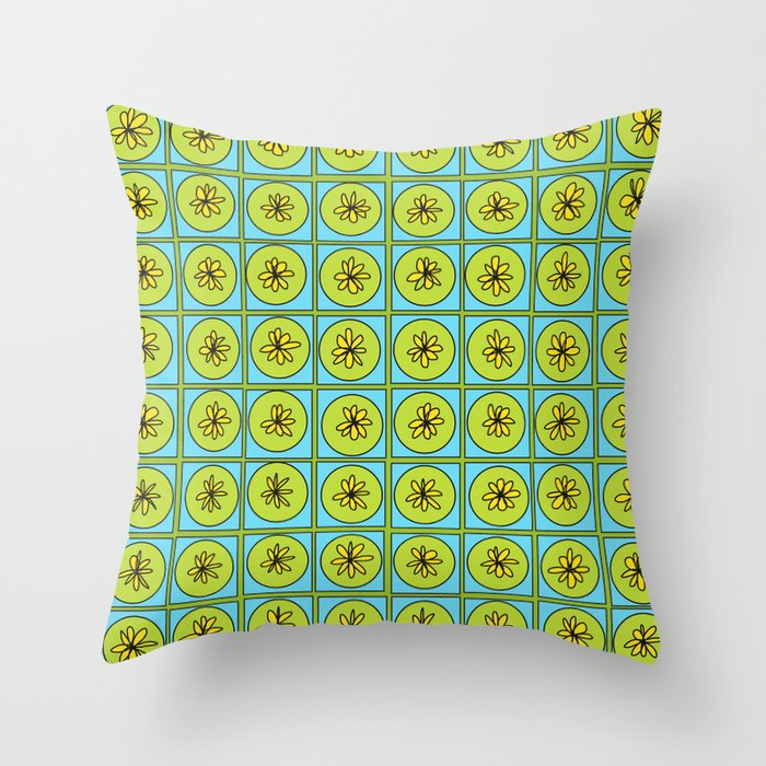 Happy Pattern Throw Pillow