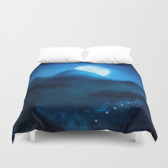 When the Moon Speaks, Part IX Duvet Cover