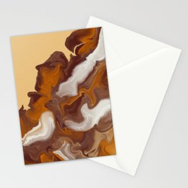 Caramel Macchiato Flowing Stationery Cards