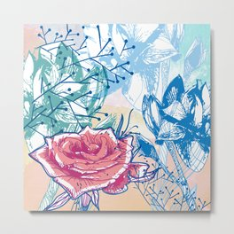 Blossoming rose Metal Print