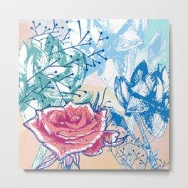 Blossoming rose Metal Print