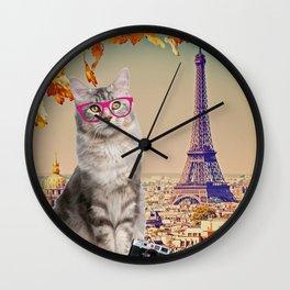 Louie in Paris Wall Clock