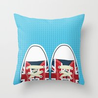 british Throw Pillows featuring Casual British by Matt Andrews