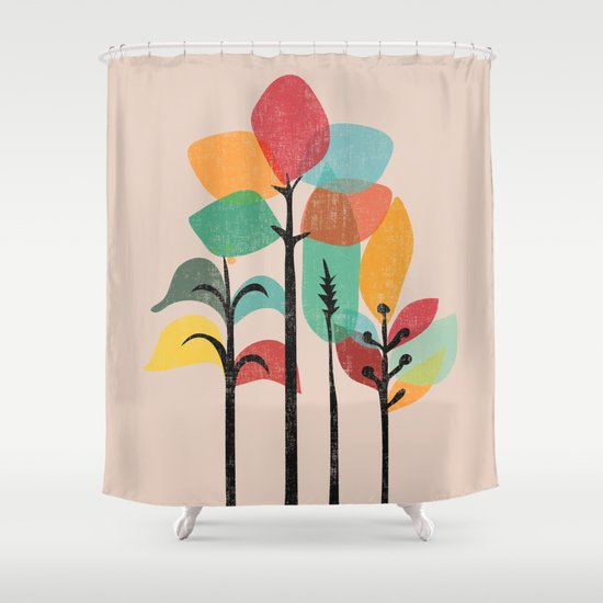 Tropical Groove Shower Curtain