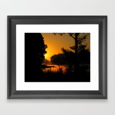 Orange Glow of Sunrise Framed Art Print