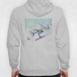 Skiing Girl Hoody