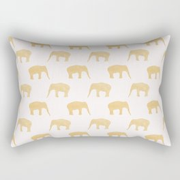 Gold glitter elephant and pink Rectangular Pillow