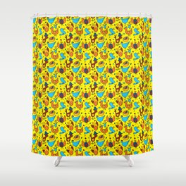 Crazy Birds Shower Curtain