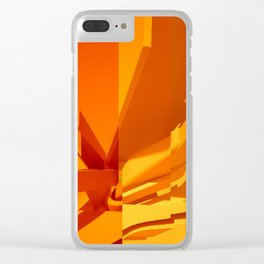 Abstract Glitch 02 Clear iPhone Case