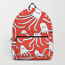 A Party of Handicapped Octopi III - Red-isch Backpack