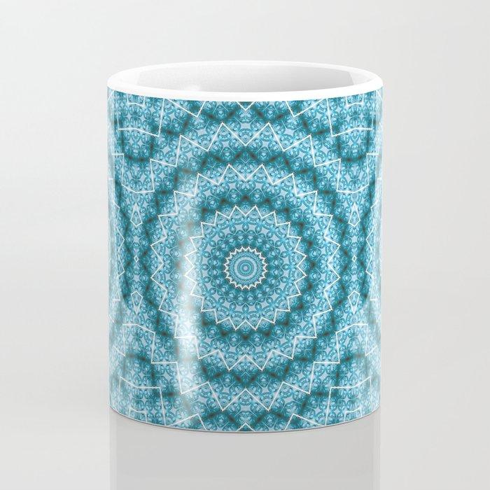 Light Blue Kaleidoscope / Mandala Coffee Mug