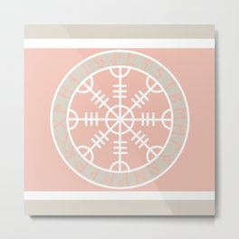 Icelandic Magical Stave - The helm of awe Metal Print