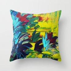 FLORA - Gorgeous Lemon Lime Citrine Chartreuse Floral Bouquet Garden Flowers Colorful Nature Beauty Throw Pillow