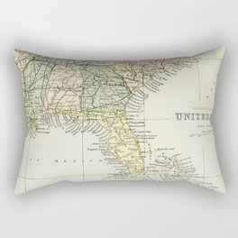 Vintage Map of the South Of The United States Of America Rectangular Pillow