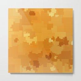 Butterscotch Square Pixel Color Accent Metal Print