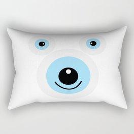 Funny polar bear face Rectangular Pillow