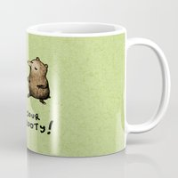 booty Mugs featuring Bear Booty Dance by Sophie Corrigan