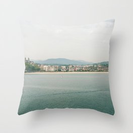 La Concha Beach, San Sebastian - Donostia-San, Spain III Throw Pillow
