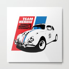 Team Herbie - Love Bug Metal Print