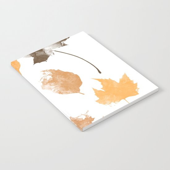 autumn, leaves, Notebook