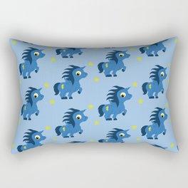 Blue Unicorn Rectangular Pillow