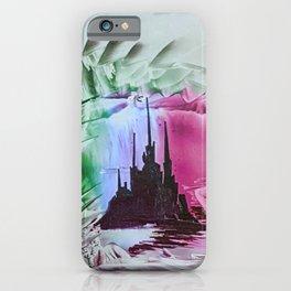 Red alien Cityscape iPhone Case