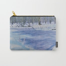 winter landscape aquarell Carry-All Pouch