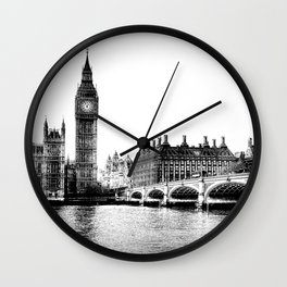 Westminster Bridge and Big Ben Art Wall Clock