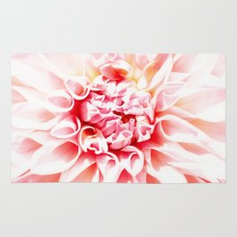 Pale Pink Dahlia Rug
