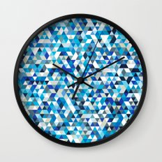 Icy triangles Wall Clock