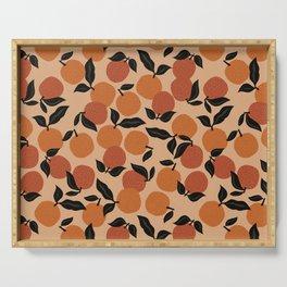 Seamless Citrus Pattern / Oranges Serving Tray