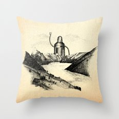 A Visitor From The North Throw Pillow