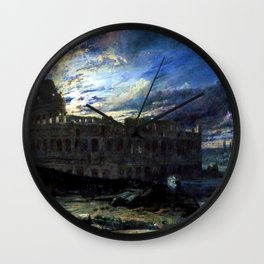 Coliseum by Moonlight by Frederick Lee Bridell Wall Clock