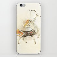 sagittarius iPhone & iPod Skins featuring Sagittarius by Vibeke Koehler