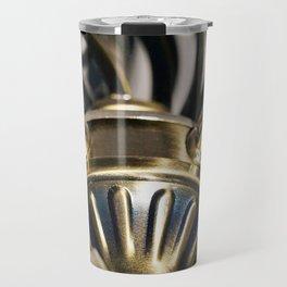 STEAMPUNK BRASS CURVES ABSTRACT Travel Mug