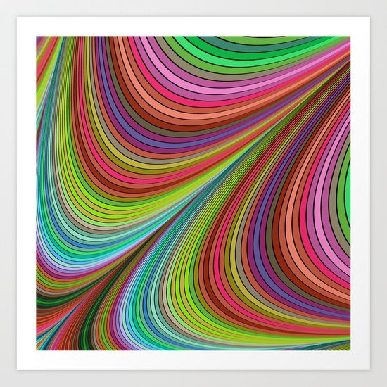 Happy curves Art Print